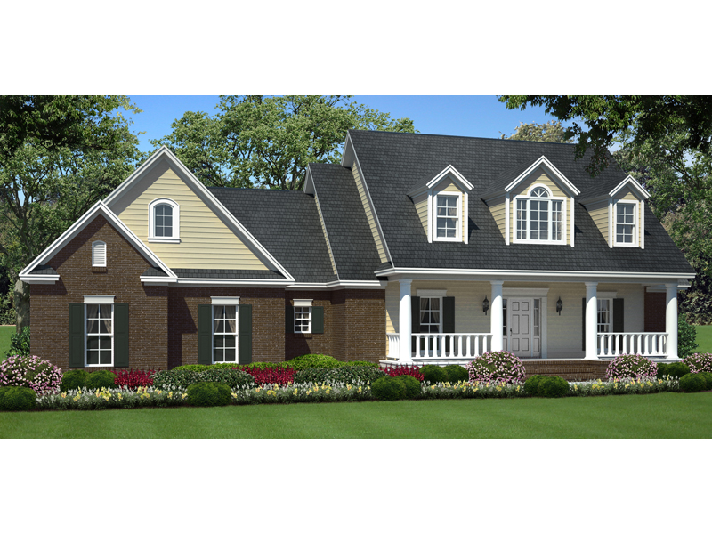 Stylish Country Ranch Introduces Triple Dormers Above Front Porch