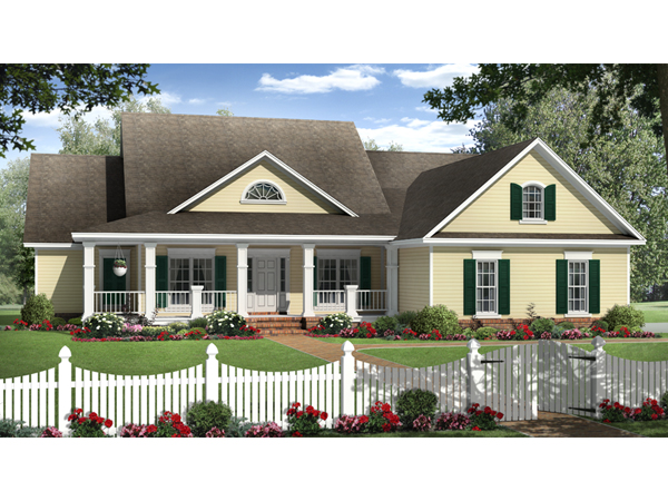 Jasmin Park Country Ranch Home Plan 077D 0188 House