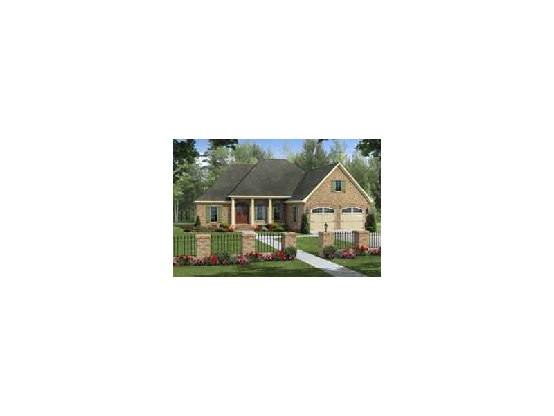 Country French House Plan Front of Home - 077D-0194 | House Plans and More