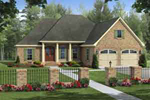 Tudor House Plan Front of Home - 077D-0194 | House Plans and More