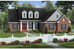 Ranch House Plan Front of Home - 077D-0195 | House Plans and More