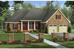 Ranch House Plan Front of Home - 077D-0196 | House Plans and More
