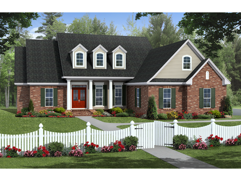 Ranch House Plan Front of Home - 077D-0197 | House Plans and More