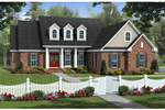 Tudor House Plan Front of Home - 077D-0197 | House Plans and More