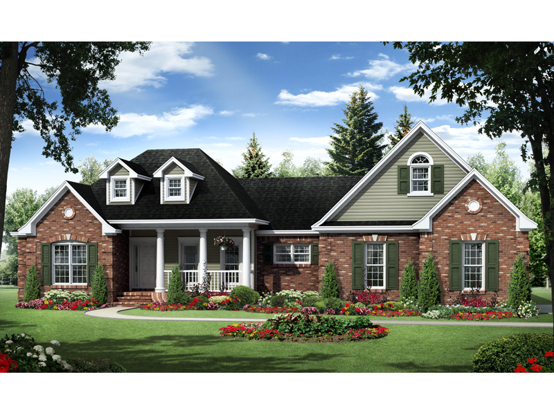 Craftsman House Plan Front of Home - 077D-0198 | House Plans and More