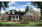 Ranch House Plan Front of Home - 077D-0198 | House Plans and More