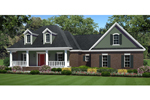 Tudor House Plan Front of Home - 077D-0199 | House Plans and More