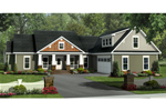 Ranch House Plan Front of Home - 077D-0200 | House Plans and More