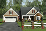 Tudor House Plan Front of Home - 077D-0201 | House Plans and More
