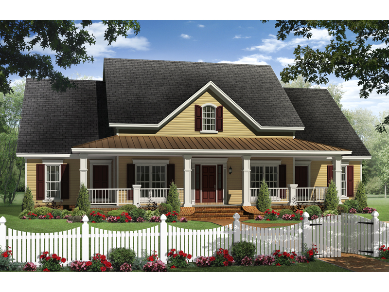 Craftsman House Plan Front of Home - 077D-0202 | House Plans and More