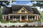 Ranch House Plan Front of Home - 077D-0202 | House Plans and More