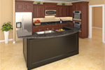 Tudor House Plan Kitchen Photo 01 - 077D-0202 | House Plans and More