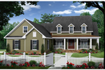 Farmhouse Plan Front of Home - 077D-0204 | House Plans and More