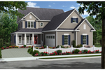 Farmhouse Home Plan Front of Home - 077D-0205 | House Plans and More