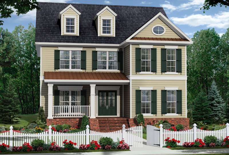 Farmhouse Plan Front of Home - 077D-0206 | House Plans and More