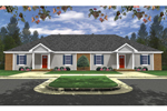 Ranch House Plan Front of Home - 077D-0207 | House Plans and More