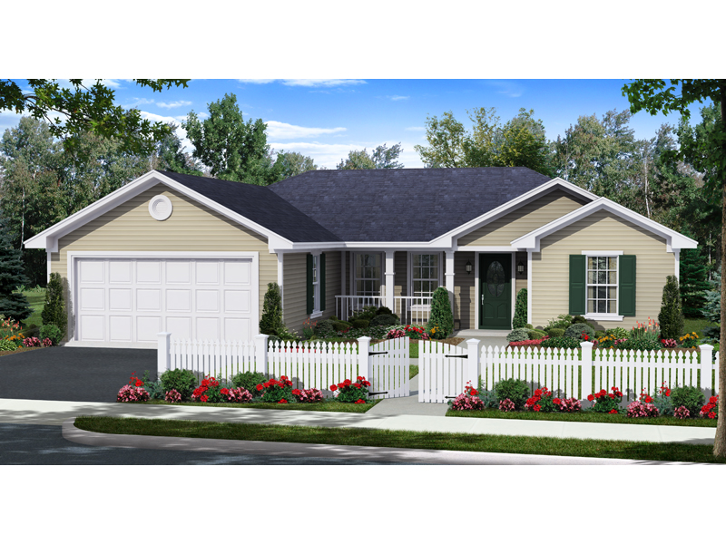 Country House Plan Front of Home - 077D-0208 | House Plans and More