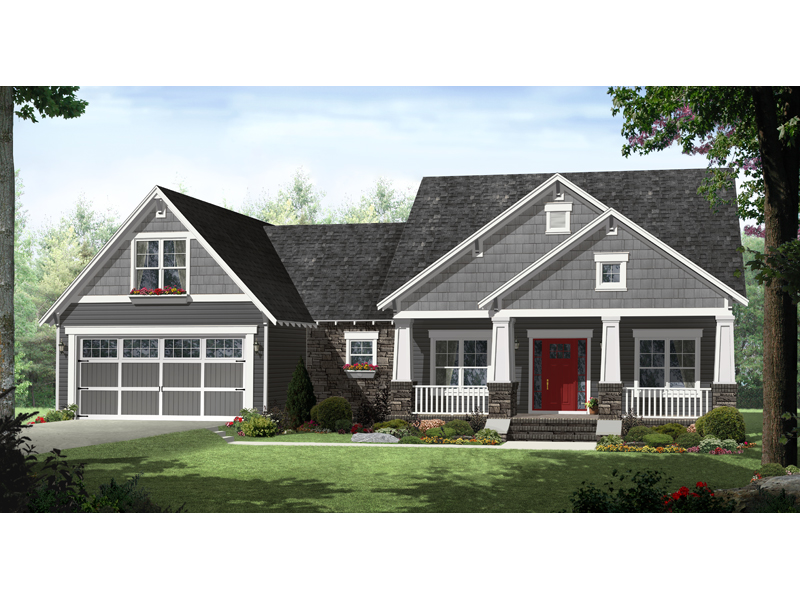 Cabin & Cottage House Plan Front of Home - 077D-0209 | House Plans and More