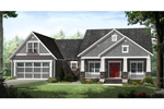 Ranch House Plan Front of Home - 077D-0209 | House Plans and More