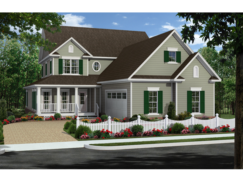 Traditional House Plan Front of Home - 077D-0210 | House Plans and More