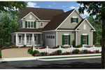 Farmhouse Plan Front of Home - 077D-0210 | House Plans and More