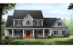 Traditional House Plan Front of Home - 077D-0211 | House Plans and More