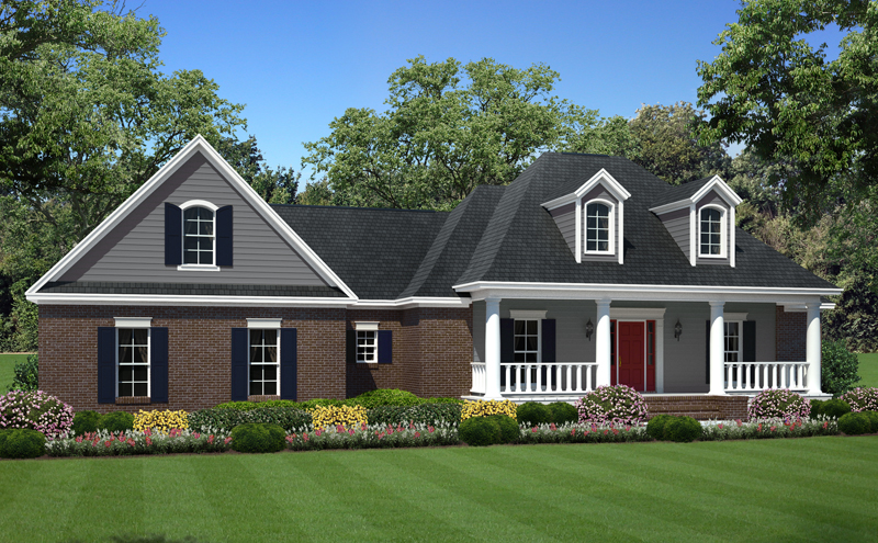 Country House Plan Front of Home - 077D-0212 | House Plans and More
