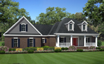 Farmhouse Plan Front of Home - 077D-0212 | House Plans and More