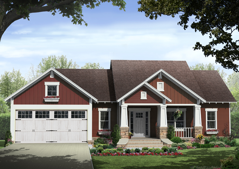 kelly leaf craftsman ranch home plan 077d 0213 house