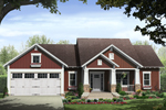 Ranch House Plan Front of Home - 077D-0213 | House Plans and More