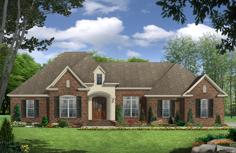 European House Plan Front of Home - 077D-0215 | House Plans and More