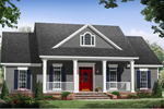 Tudor House Plan Front of Home - 077D-0216 | House Plans and More