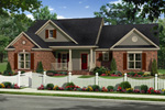 Country French Home Plan Front of Home - 077D-0218 | House Plans and More