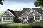 Ranch House Plan Front of Home - 077D-0219 | House Plans and More