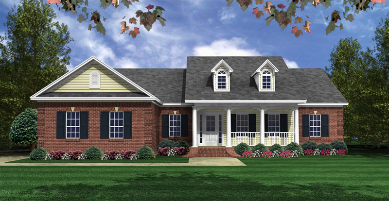 Traditional House Plan Front of Home - 077D-0221 | House Plans and More