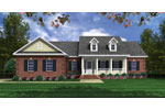 Country French Home Plan Front of Home - 077D-0221 | House Plans and More