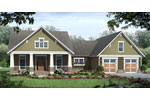 Ranch House Plan Front of Home - 077D-0223 | House Plans and More
