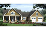 Craftsman House Plan Front of Home - 077D-0224 | House Plans and More