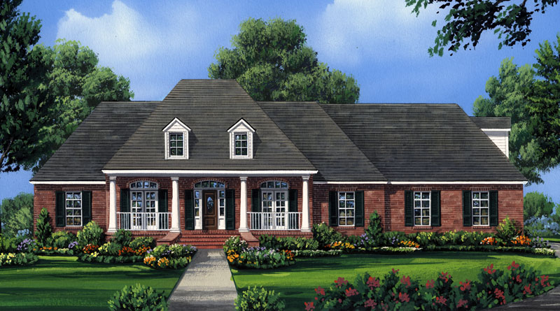 Ranch House Plan Front Image 077D-0227