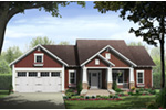Craftsman House Plan Front of Home - Blackberry Craftsman Home 077D-0237 | House Plans and More