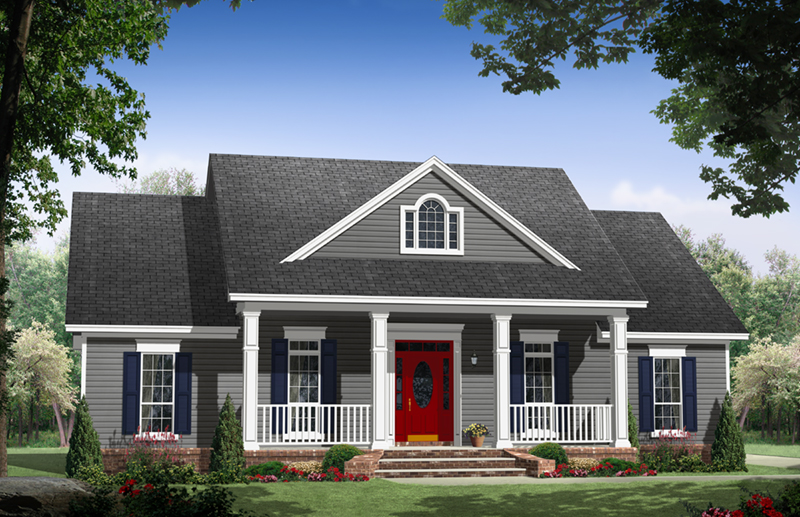 Good House Plans New England Farmhouse Part - 13: Country House Plan Front Of Home - 077D-0251 | House Plans And More
