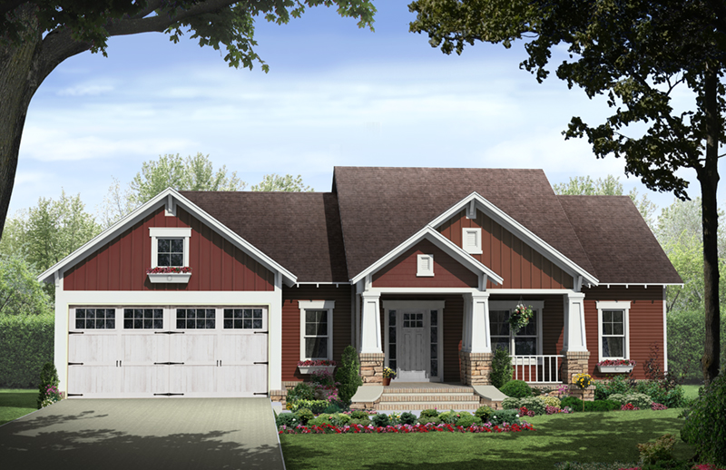 Paxton Hill Country Home Plan 077D-0260 | House Plans and More on single story contemporary home designs, single story european home plans, single story cabin homes,