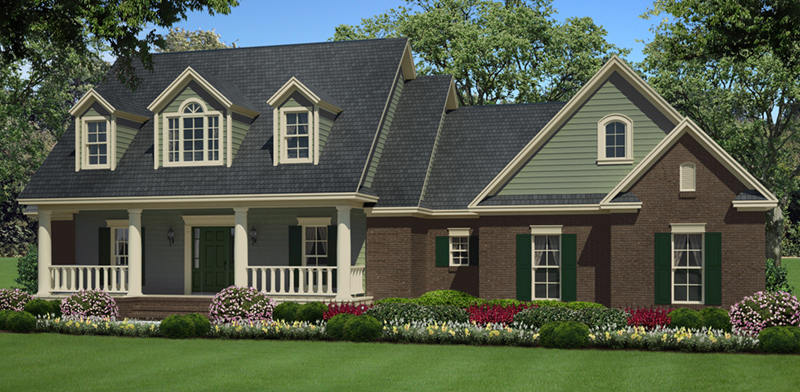 Westover lane country home plan 077d 0264 house plans for Traditional southern house plans