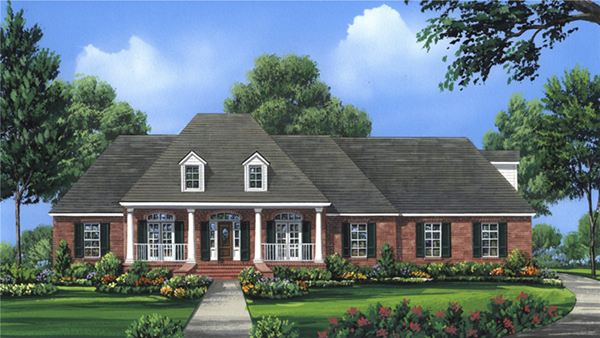 Dogwood circle country home plan 077d 0281 house plans for Circle house plans