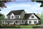 Country House Plan Front of Home - 077D-0283 | House Plans and More