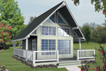 A-Frame Home Plan Front Image - 080D-0001 | House Plans and More