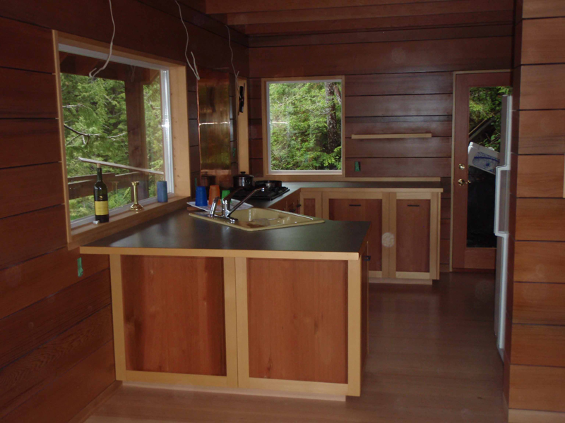 A-Frame Home Plan Kitchen Photo 02 080D-0001