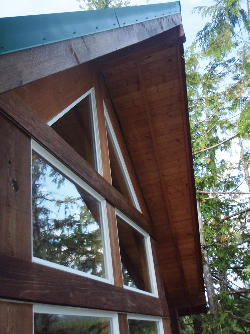 A-Frame House Plan Window Detail Photo 080D-0001
