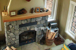 Cabin and Cottage Plan Fireplace Photo 01 - 080D-0003 | House Plans and More