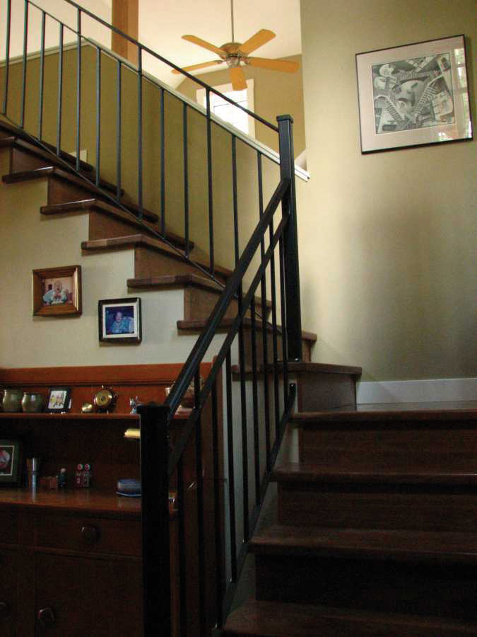 Mountain Home Plan Stairs Photo 01 080D-0003